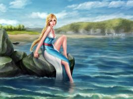 Dana - the goddess of the Dnieper by Skinetneo