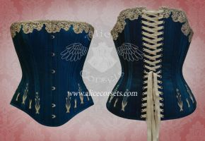 Silk victorian flossing corset by Alice-Corsets