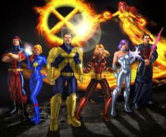 Mastermind and the X-men by erikson1