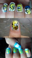 Simpsons NailArt by EnelyaSaralonde