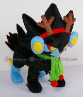 Luxray:::Christmas accessories by Witchiko