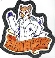 Chatterbox/Wolfwings Badge by dragonmelde