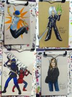 Sketch Card Commissions from Ohayocon 2014 by alex-heberling