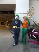 The Joker and Aqua(wo)man by archangelselect