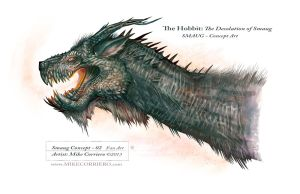 Smaug Head Concept Variant 02 by MIKECORRIERO