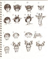 CFT morph sketches 1 by mushypeas