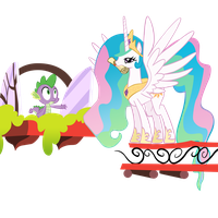 Celestia and Spike by theaceofspadez