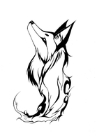 Tribal Fire Fox by Mistress-of-Dragons
