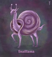 Daily Llama Project - Snaillama by TrollGirl