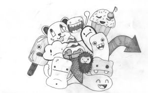 sketched cuties by B3Ns