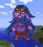 Minecraft Vaati Statue by myvideogameworld