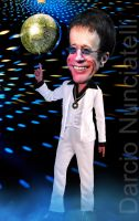Caricature Robin Gibb by dnunciate