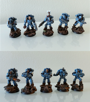 Pre-Heresy  Ultramarine tactical squad by gobsu
