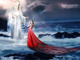Sea goddess and her daughter by SymphonicArt