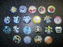 TWEWY Pins - Mus Rattus by Paradise-Props