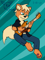 May Anthro Challenge: The Girl on the Bass by SesshaXIII