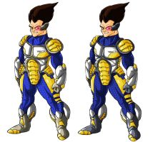 Vegeta Redesign Comparison by SirGryphon