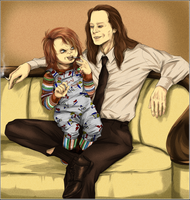 Chucky and Charles by HumanPinCushion