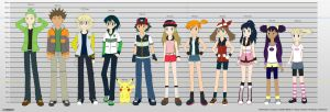 PKMN V - Character Height Chart (Q4 2014 VERSION) by Blue90