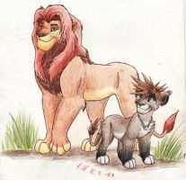 Sora and Simba by Sulka