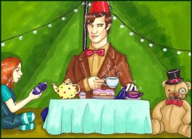 The Doctor Who Came To Tea by perfect-fairytale