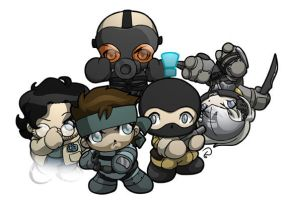 Metal Gear Super-deformed by scowlingelf