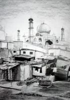 Poverty and Wealth, pencil drawing 70x100 by SoniaSh