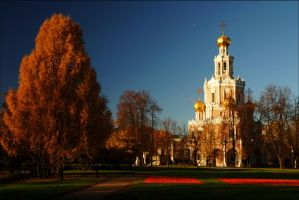 Moscow autumn. October morning. by Nickdan