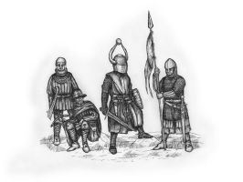 XIII Century Men At Arms by Xenopuslaevisfan