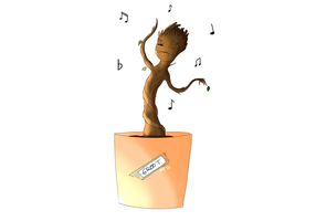 Little Groot Dancing by max301
