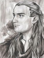 A portrait of Legolas by cat-cat