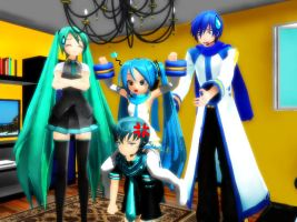 MMD La bomba Family shion by xXNaku
