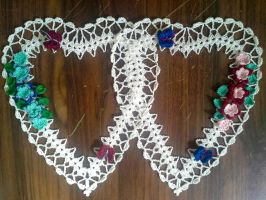 Intertwined Hearts Doily by koepr5333