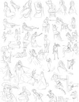 HiddenYume-stock Gesture Drawings by slyshand