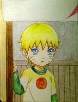 Kid Naruto Uzumaki - First time at Ichiraku's  by AjkaSketch