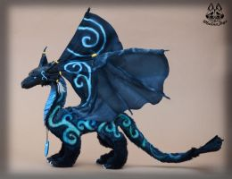 Poseable dragon commission by MalinaToys