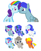 Spectrum X Blue Foals CLOSED by chickendogpony