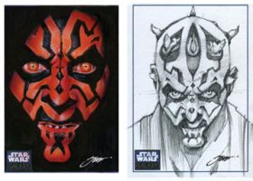 Star Wars Darth Maul by SteveStanleyArt