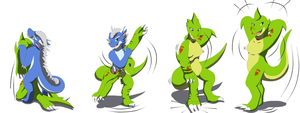 Comission: Kaz Suit (Dragoness TF TG) by Avianine
