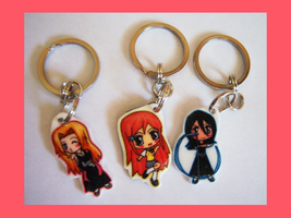 Bleach 2 Chibi Charm Keychains by IcyPanther1