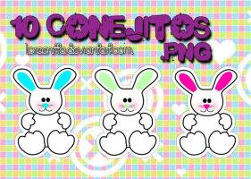 Conejitos .png by Loreenitta