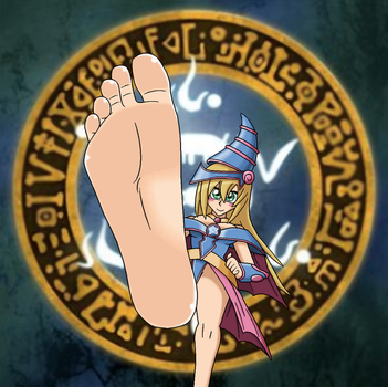 Dark Magician Girl Makes Her Move by LeinadWorks