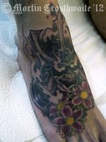 Samurai Foot tattoo by mxw8