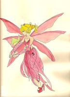 fairy and green butterfly by TheTeaMaker