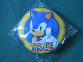 Sonic and Power Ring Cushion by BoomSonic514