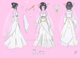 Geisha Wedding dress by kikyoyami8