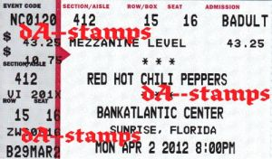 Red Hot Chili Peppers Concert 4-2-12 by dA--bogeyman
