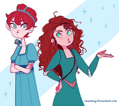 Red haired girls by imamong