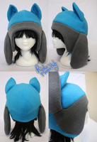 +FleeceHat:Sold+ Riolu hat. by Stephys-Adoptables