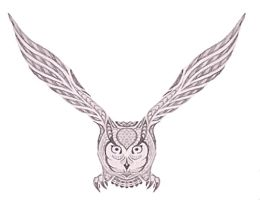 Stylized Owl by cermaith